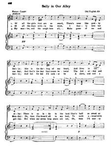 Sally in Our Alley: Für Stimme und Klavier by folklore