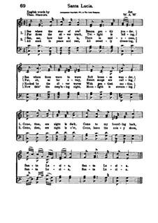 Santa Lucia: C-Dur by folklore