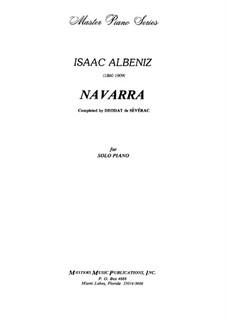Navarra: Für Klavier by Isaac Albéniz