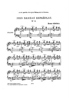Sechs spanische Tänze, Op.37: Vollsammlung by Isaac Albéniz