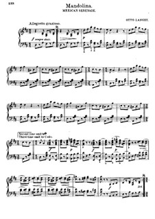 Mandolina. Mexikanische Serenade für Klavier: Mandolina. Mexikanische Serenade für Klavier by Otto Langey