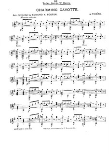 Charming Gavotte, for Guitar: Charming Gavotte, for Guitar by Charles le Thiére