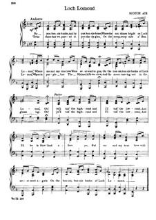 Loch Lomond: Für Stimme und Klavier by folklore