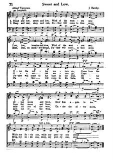 Sweet and Low: Für gemischten Chor by Joseph Barnby