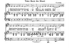 Take Back the Heart: Für Stimme und Klavier (D Major) by Claribel