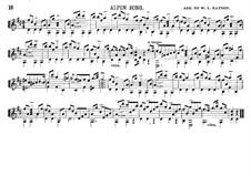 Alpen Song: Für Gitarre by Unknown (works before 1850)