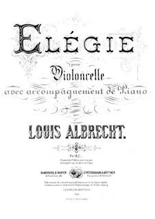 Elegie: Elegie by Ludwig Carl Albrecht