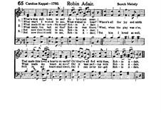Robin Adair: B Flat Major by folklore