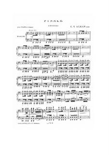 Finale (Marsch) für Klavier, vierhändig: Finale (Marsch) für Klavier, vierhändig by Charles-Valentin Alkan