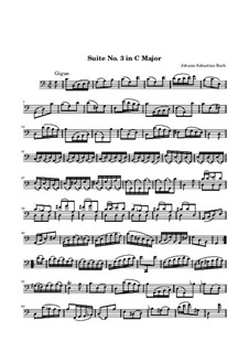 Suite für Cello Nr.3 in C-Dur, BWV 1009: Gigue by Johann Sebastian Bach