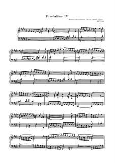 Präludium und Fuge Nr.4 in cis-Moll, BWV 849: Präludium by Johann Sebastian Bach