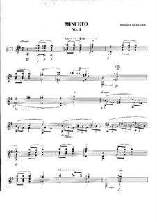 Zwölf Spanische Tänze: Tanz Nr.1, für Gitarre by Enrique Granados