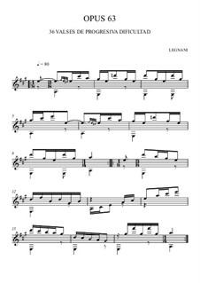 Sechsunddreissig Walzer für Gitarre, Op.63: Nr.1-13 by Luigi Legnani