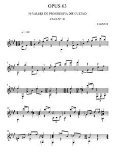 Sechsunddreissig Walzer für Gitarre, Op.63: Nr.36 by Luigi Legnani