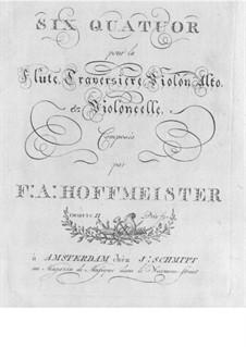 Sechs Quartette für Flöte und Streicher, Op.2: Cellostimme by Franz Anton Hoffmeister