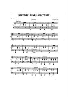 Mountain Belle Schottische: Für Klavier, vierhändig by Charles Kinkel