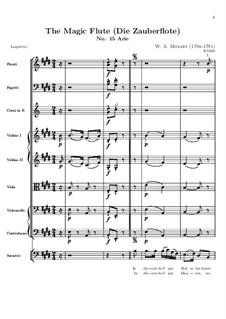 In diesen heil'gen Hallen: Vollpartitur by Wolfgang Amadeus Mozart
