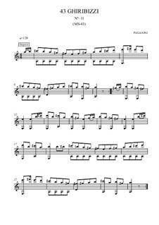 Forty-Three Ghiribizzi, MS 43: Ghiribizzo No.11 by Niccolò Paganini