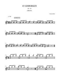 Forty-Three Ghiribizzi, MS 43: Ghiribizzo No.19 by Niccolò Paganini