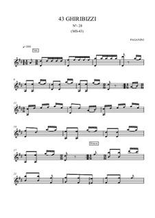 Forty-Three Ghiribizzi, MS 43: Ghiribizzo No.28 by Niccolò Paganini