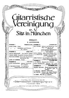 Gitarristische Vereinigung. Jahrgang X, Nr.6: Gitarristische Vereinigung. Jahrgang X, Nr.6 by Francesco Molino, Mauro Giuliani, Adam Darr
