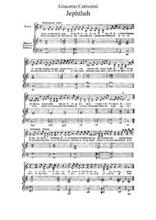 Jephte: Für Stimmen und Klavier by Giacomo Carissimi
