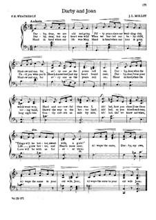 Darby and Joan: Klavierauszug mit Singstimmen by James L. Molloy