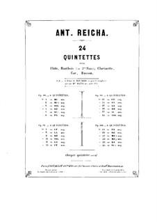 Holzbläserquintett in a-Moll, Op.100 No.5: Flötenstimme by Anton Reicha