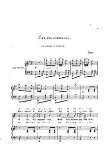 La donna è mobile (Over the Summer Sea): Für Stimme und Klavier (english and italian texts) by Giuseppe Verdi