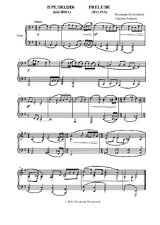 Prelude for Piano: Prelude for Piano by Vladimir Polionny
