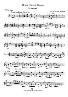 Variationen über 'Home, Sweet Home' von H. Bishop für Gitarre: Variationen über 'Home, Sweet Home' von H. Bishop für Gitarre by Arling Shaeffer