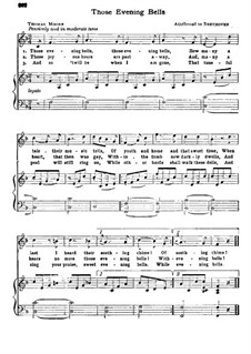 Those Evening Bells: Those Evening Bells by Ludwig van Beethoven