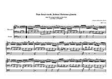Choralvorspiele (Übrige): Nun freut euch, lieben Christen g'mein, BWV 734 by Johann Sebastian Bach