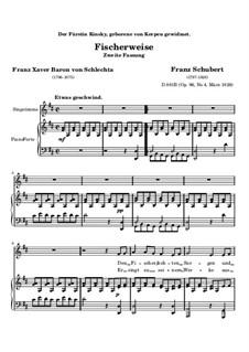 Fischerweise, D.881 Op.96 No.4: Zweite Fassung by Franz Schubert