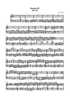 Duo Nr.4 in a-Moll, BWV 805: Für Keyboard by Johann Sebastian Bach