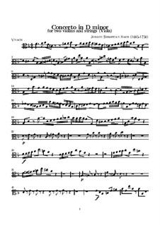 Doppelkonzert für zwei Violinen, Streicher und Basso Continuo in d-Moll, BWV 1043: Bratschenstimme by Johann Sebastian Bach
