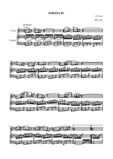 Sonate für Violine und Cembalo Nr.4 in c-Moll, BWV 1017: Partitur by Johann Sebastian Bach