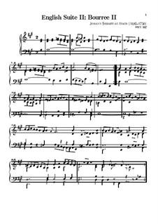 Suite Nr.2 in a-Moll, BWV 807: Bourrée II by Johann Sebastian Bach