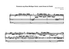 Choralvorspiele III (Leipziger Choräle): Komm, Heiliger Geist, Herre Gott, BWV 651 by Johann Sebastian Bach