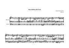 Choralvorspiele III (Leipziger Choräle): Nun danket alle Gott, BWV 657 by Johann Sebastian Bach