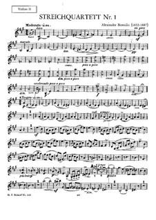 Streichquartett Nr.1 in A-Dur: Violinstimme II by Alexander Porfiryevich Borodin