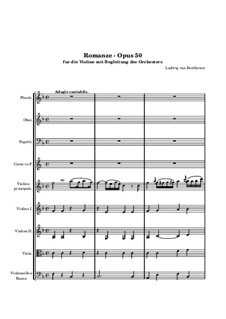 Romanze für Violine und Orchester Nr.2 F-Dur, Op.50: Vollpartitur by Ludwig van Beethoven