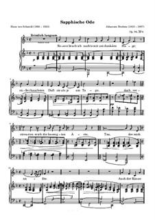 Fünf Lieder, Op.94: Nr.4 Sapphische Ode by Johannes Brahms