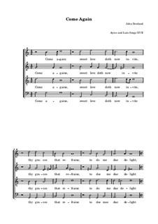 Come Again: Für Stimmen by John Dowland