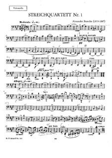 Streichquartett Nr.1 in A-Dur: Cellostimme by Alexander Porfiryevich Borodin
