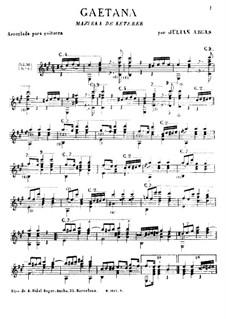 Gaëtana: Für Gitarre by Eugène Ketterer