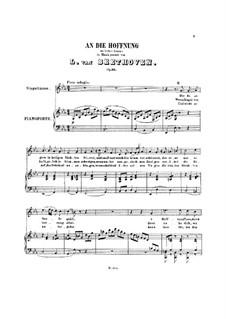 An die Hoffnung, Op.32: Klavierauszug mit Singstimmen by Ludwig van Beethoven