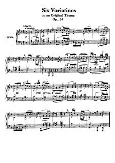 Sechs Leichte Variationen über ein Schweizerlied, Op.34: Für Klavier by Ludwig van Beethoven