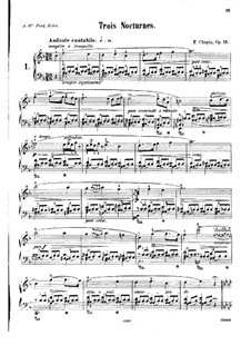 Nocturnen, Op.15: Nr.1 in F-Dur by Frédéric Chopin