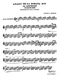 Teil I: Für Gitarre by Ludwig van Beethoven